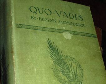1898 Quo Vadis Book