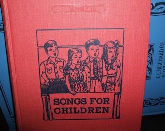 1963 SONGS FOR CHILDREN HARDBACK BOOK