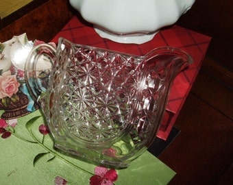 Antique Pattern Glass Creamer