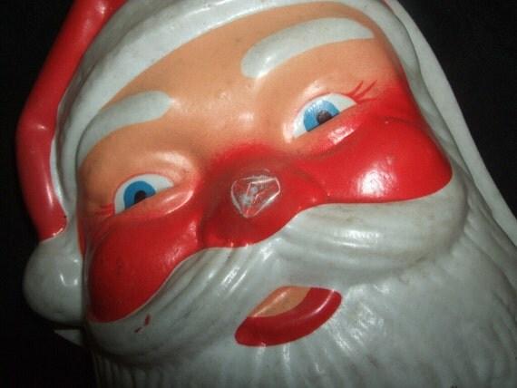 Vintage Light Up Santa Face By Saltsmansoap On Etsy
