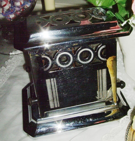 Electric Toasters From 1930 ~ Vintage s chrome toaster by saltsmansoap on etsy