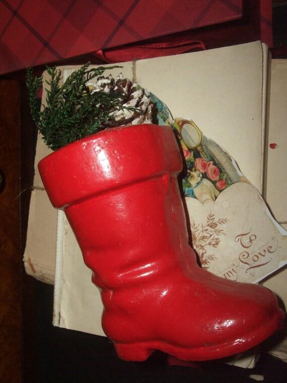 Vintage Santa Boot