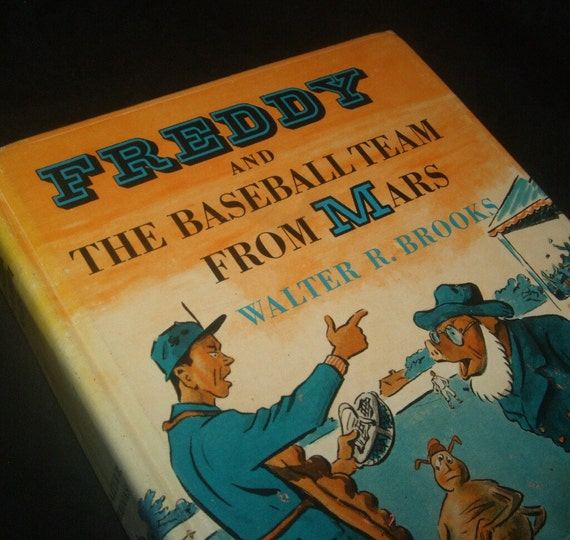 1955 Freddy and the Baseball Team from Mars Book