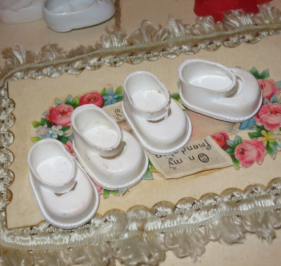 Vintage Lot of Small Doll Shoes