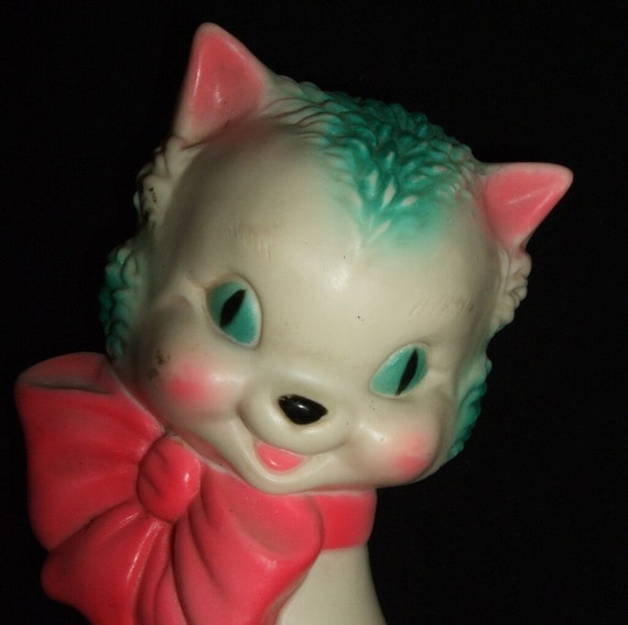 Very vintage squeeze toy lot with sun rubber cat by saltsmansoap