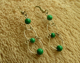 Music of the Spheres. One of a Kind Malachite Earrings