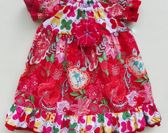 Red Love Bird Dress