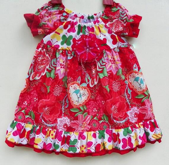 Red Love Bird Dress