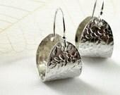 Floral Hoop earrings Sterling silver  Spring fashion