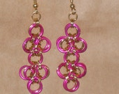 sale MAGENTA JAPANESE LATTICE EARRINGS sale