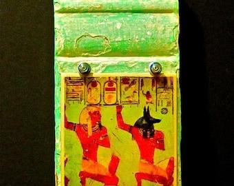 Anubis Wall Hanging Egyptian Wall Shrine