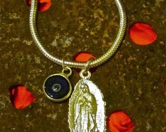 Virgin of Guadalupe Milagro Evil Eye Ojo Malo Necklace