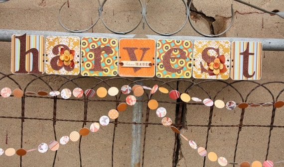 50% Off Thanksgiving Decoration - HARVEST Sign Party Banner