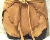 Leather Shorts Deerskin Hippie Lederhosen Custom Leather Wrap Loincloth Shorts Handmade by Debbie Leather