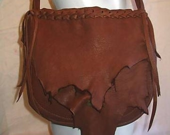 "Leather Designer Handbag Hand Made Deerskin Purse in Marsala Brown or Black  Colored Deerskin ""PRETTY PATTY"" Handmade by Debbie Leather"