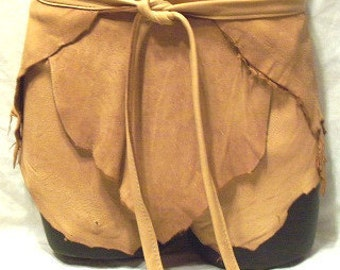 Leather Shorts Deerskin Hippie Lederhosen Custom Leather Loincloth Wrap Around Shorts Handmade by Debbie Leather