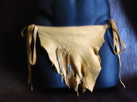 Authentic Leather Loincloth Gold Deerskin Comicon By Dleather