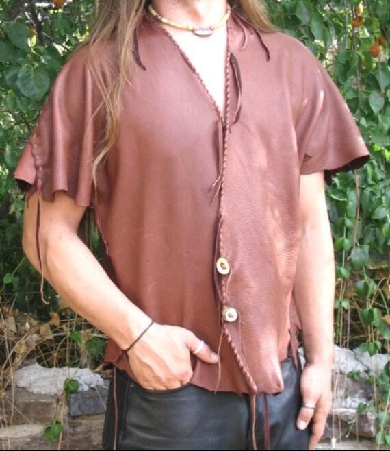 Leather Vest, Renaissance, Pirate, Steampunk, Goth, Deerskin, Hippie, Primitive Vest,Custom 4U