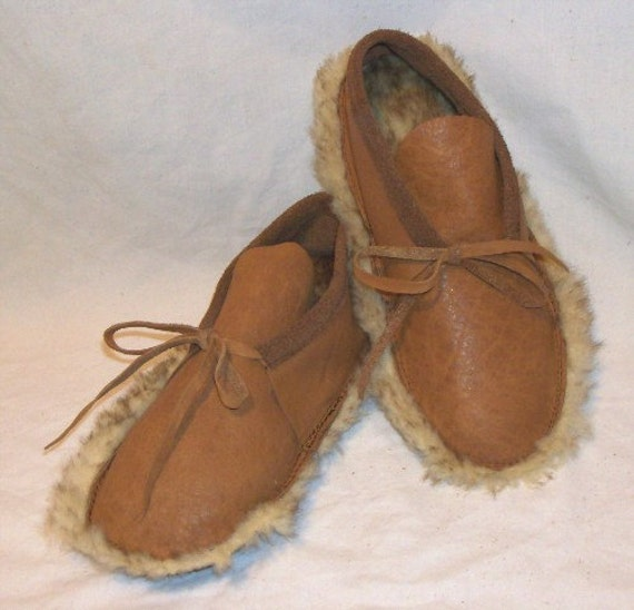 Genuine Sheepskin Leather Moccasins Custom Shearling WARM COMFY Slippers Mucklucks Indian Style Shoes MukluksHandmade by Debbie Leather
