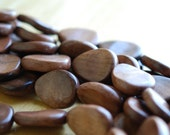 20% OFF SALE reduced from 8.00 to 6.40 Wood beads Tear drop light brown