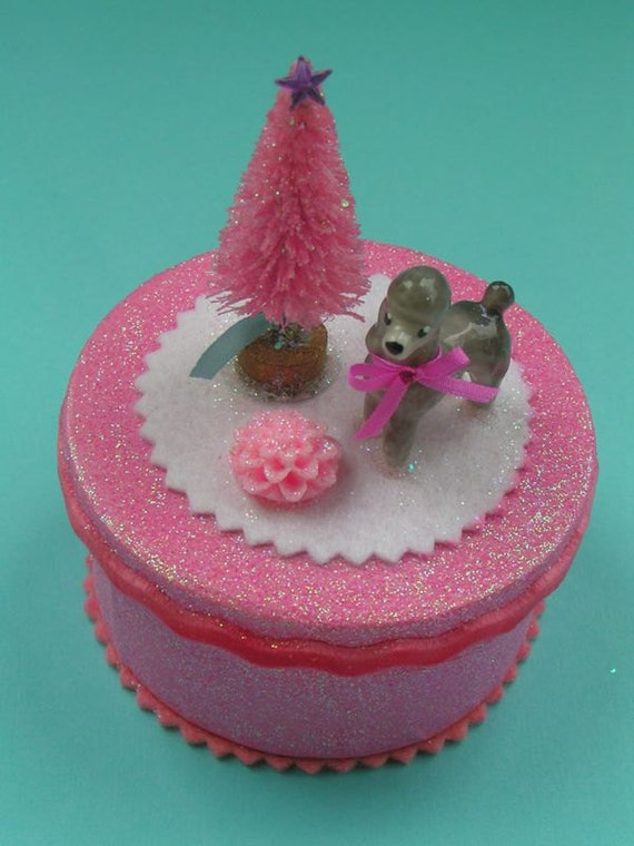 Xmas Poodle Gift/Jewelry Box