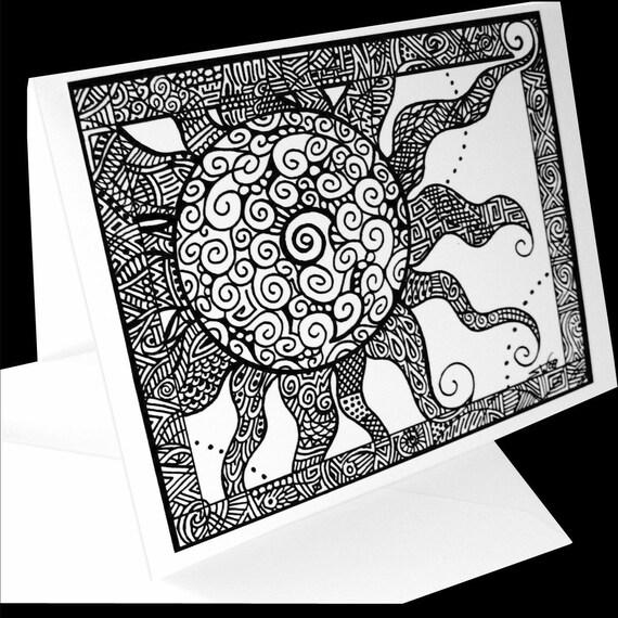 Sunshine Print Greeting Card