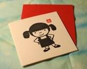 Letterpress - Girl