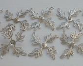 Vintage Silver Plated Filigree Leaf Wraps Upeye