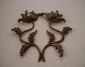 Vintage Ox Brass Deco Flower Stamping