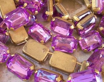Sale! Vintage Purple Lucite Brass Chain