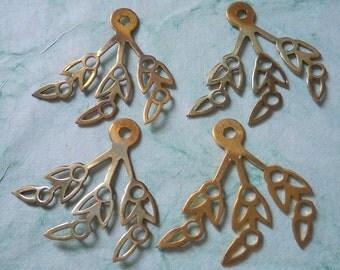 Vintage Brass Leaves