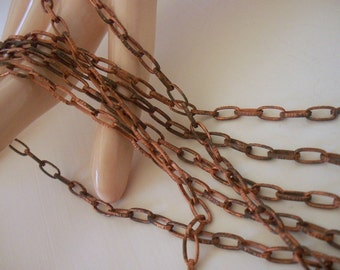 Steampunk Vintage Copper Chain