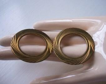 Vintage Brass Art Deco Circle