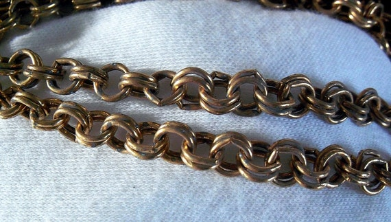 Vintage Brass Chain Double Link