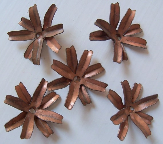 Vintage Metal Flower Findings