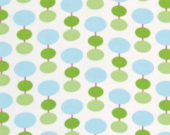 Medium Splat Mat - Art Mat Laminated Cotton, White Lanterns, 35x48 Inches, BPA and PVC free