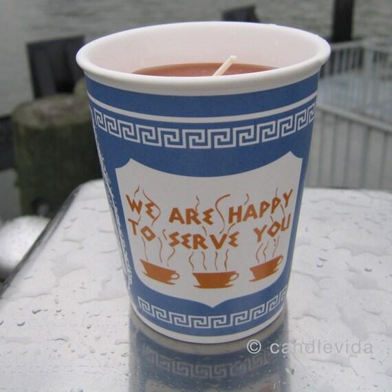Hazelnut Coffee New York Greek Coffee Cup Candle