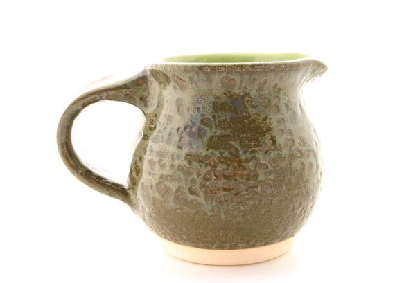Little Pitcher Textured Olive and Chartreuse