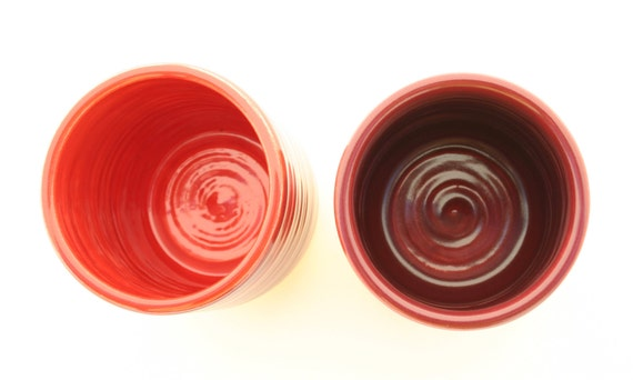 Set of Two Tumblers Cranberry and Coral