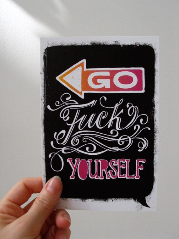 Go F-ck Yourself postcard