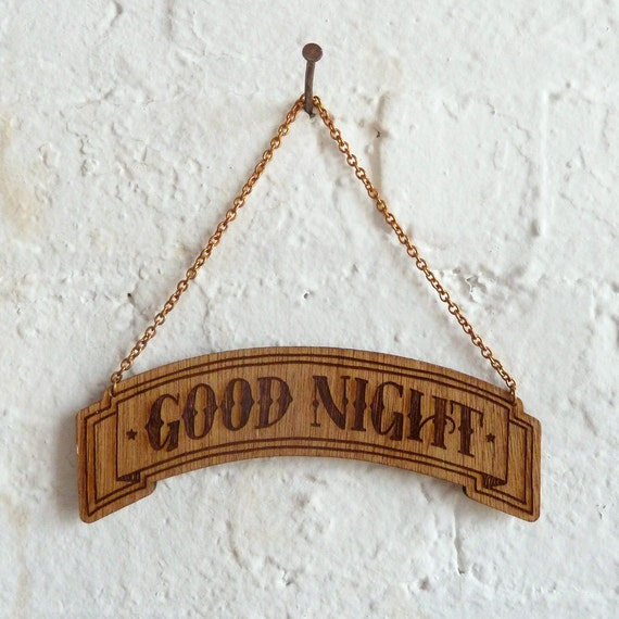 RESERVED - Good Night wood banner