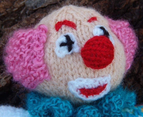 INSTANT DOWNLOAD - Fritz, the Clown - knitting pattern (PDF)