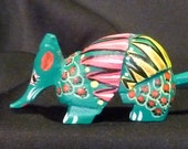 Miniature Armadillo Oaxacan Woodcarvings from Fuentes Family - Various Colors