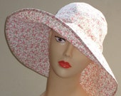 Womans hat wide brimmed sun hat size 22.5 inch sewing pattern