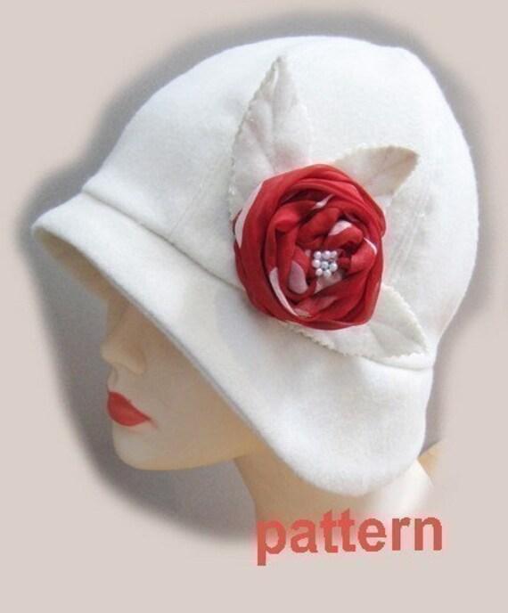 Cloche Pattern -MEDIUM SIZE - Roaring 20s flapper Cloche SEWING PATTERN