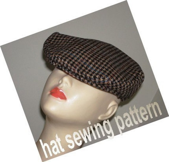 Flat cap driving hat ivy cap medium size SEWING HAT PATTERN- Micky Flat Driving Cap