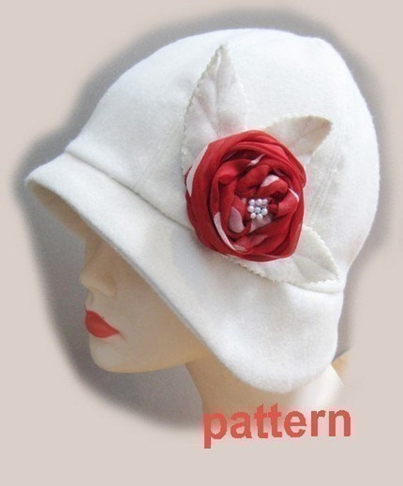 Cloche hat pattern -medium - Roaring 20s flapper Cloche sewing pattern