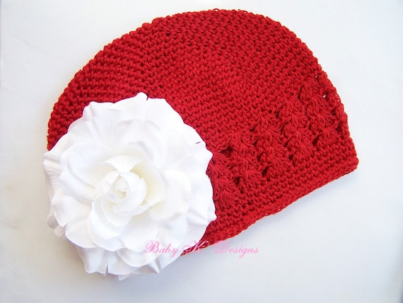 STOREWIDE Sale CHRISTMAS Newborn Baby or Toddler Petite White Velvet Peony Flower Beanie\/Girls Crochet Hat Perfect for Portraits YOU Pick the Color