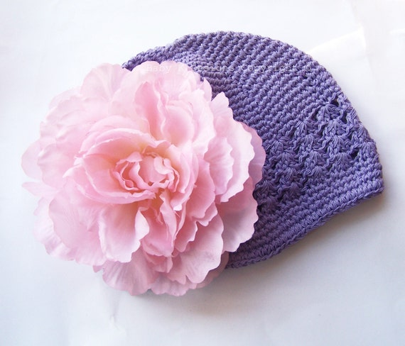 Luxurious Pink Peony Flower Beanie\/Girls Spring Hat Perfect for Portraits