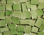 MOSAIC TILES--Green Glaze 115-- PIECES. Perfect for your mosaic project